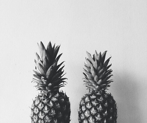 black and white and pineapple image