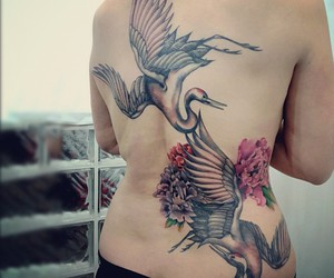 peonies, flower tattoo, and tattoo image
