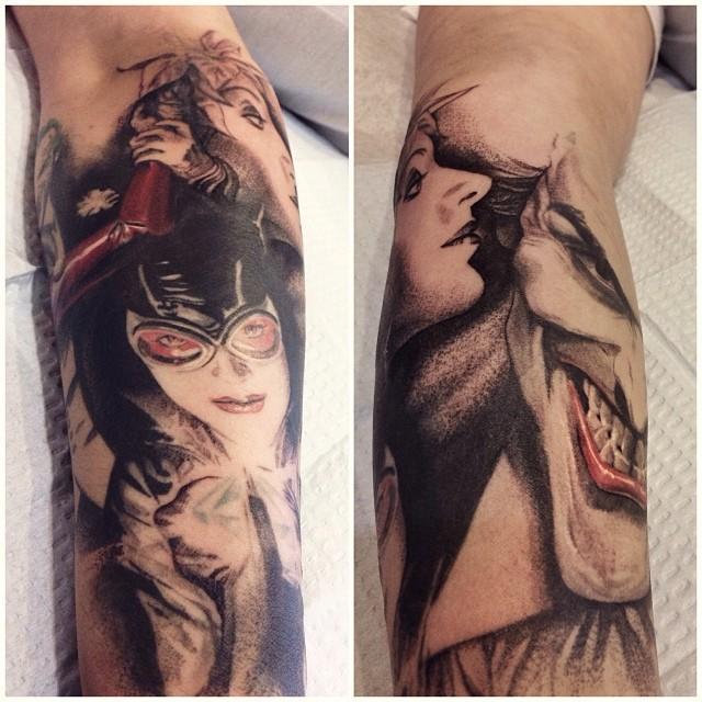 Progress Today On This Alex Ross Batman Sleeve