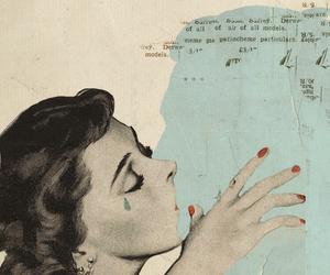 kiss, vintage, and tears image