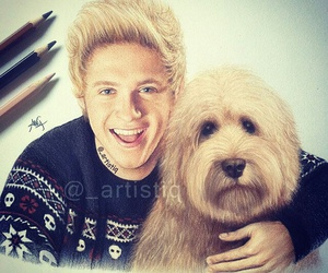niall horan, one direction, and drawing image