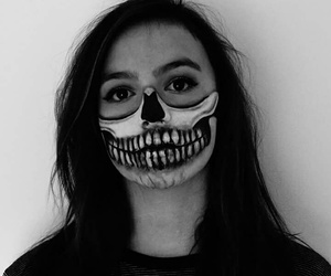 black and white, make up, and Halloween image