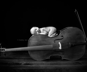 baby, cello, and music image