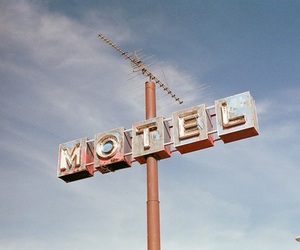 motel, blue, and sky image