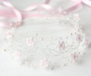 pink, wedding, and white image