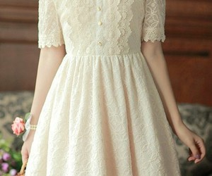 dress, white, and vintage image