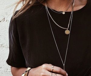 fashion, black, and necklace image