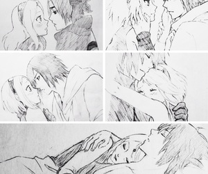 sasuke uchiha, anime couple, and ss image