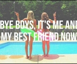 best friends, boy, and summer image