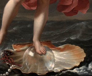 art, seashell, and detail image