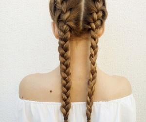 hair, braids, and girl image