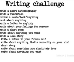 challenge, writing, and 14 days image