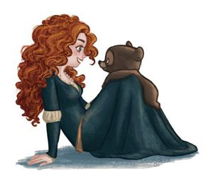 merida, disney, and brave image