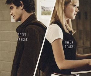 peter parker, gwen stacy, and love image
