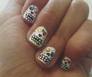 Halloween, nails, and catrinas image
