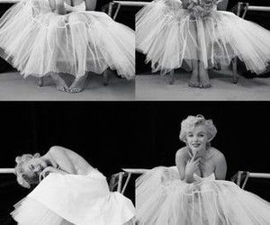 Marilyn Monroe, black and white, and ballerina image