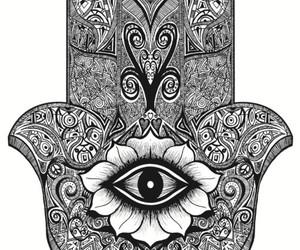 hamsa, eye, and hand image
