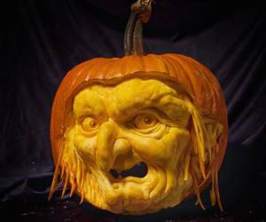 carvings, creative, and pumpkin image
