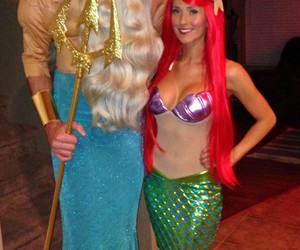ariel, costumes, and the little mermaid image