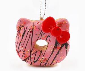 donut, hello kitty, and yummy image