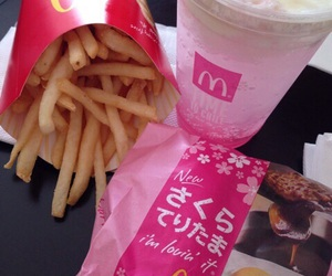 food, pink, and McDonalds image