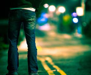 boy, night, and alone image