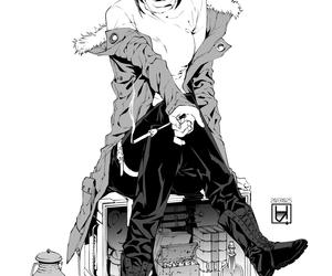 anime, anime girl, and anime monochrome girl image