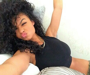 girl, curly hair, and Hot image