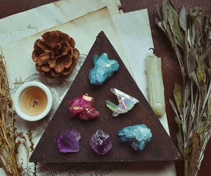 colorful, crystals, and witchcraft image