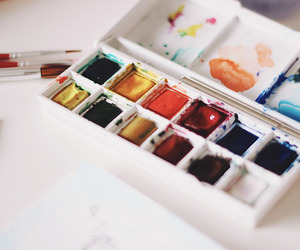 art, paint, and colors image