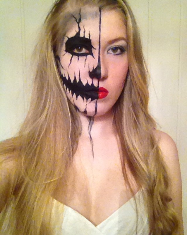 Halloween, inspo, and makeup image