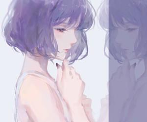 anime girl, art, and short hair image