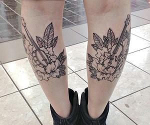legs, music, and tatoos image
