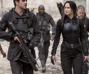 gale, mockingjay, and katniss image