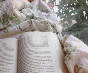 bed, book, and relax image