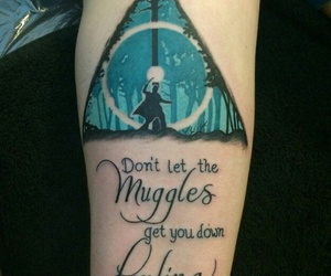 tattoo, harry potter, and muggles image