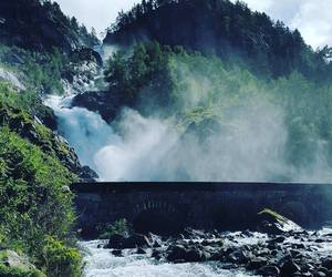 norway and waterfall image