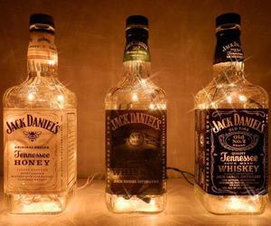 light, jack daniels, and whiskey image
