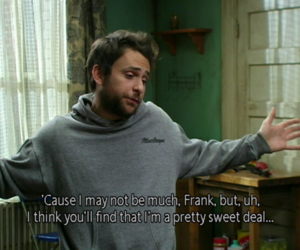 charlie, charlie kelly quotes, and funny image