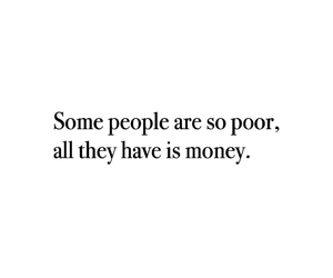 lonely, money, and people image