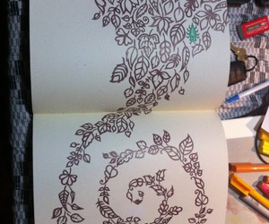 art, doodle, and colouring in image