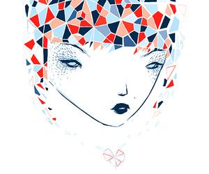 blue, girl, and illustration image