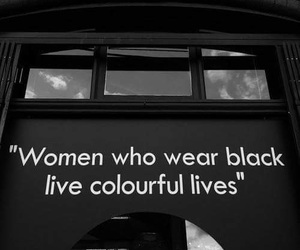 black, quotes, and woman image