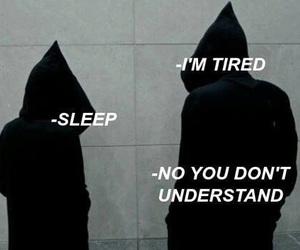 tired, black, and sad image