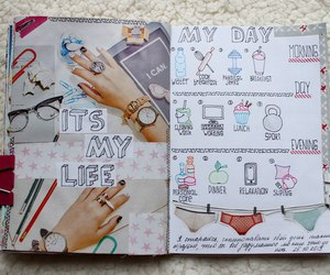 diary, notebook, and smashbook image