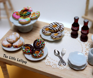 donuts, fimo, and friend image