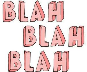 blah, pink, and blah blah blah image