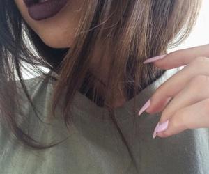 hair, nails, and girl image