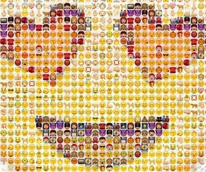 hearts, internet, and yellow image