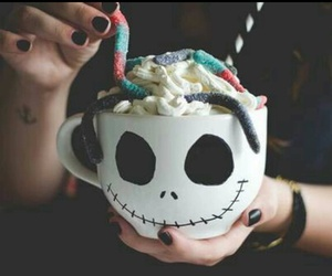 Halloween, candy, and cup image